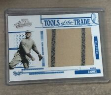 Burleigh Grimes 2005 Absolute Jumbo 2 Pinstripes Pants Patch # 30/83 Dodgers