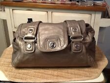 MARC By MARC JACOBS TOTALLY TURNLOCK MINI QUINN BAG Pewter Leather Purse Satchel