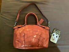 Like New Coach Madison Sophia Exotic Embossed Satchel GERANIUM