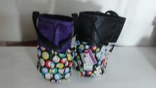 6 Pocket Bingo Bags  Black and Purple