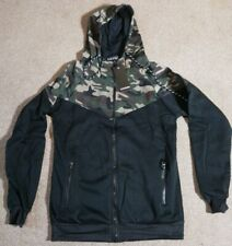 SLIM HORSE MENS CAMOUFLAGE ZIPPED HOODIE * NEW WITH TAGS * - SIZE SMALL
