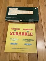 Vintage Classic Scrabble Board Game with turntable & Word Guide. COMPLETE.