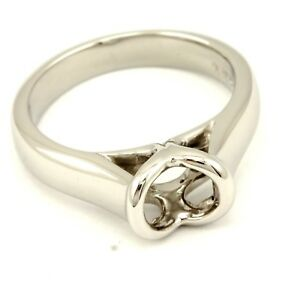 8.89gr platinum 1ct round solitaire engagement ring cathedral half beze setting