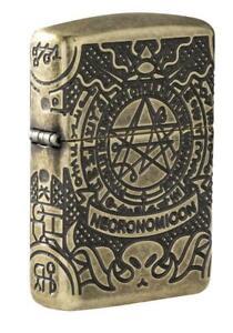 Zippo 29561, Book of the Dead, Antique Brass Lighter, 360 Degree Mulit-Cut Armor