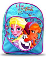 Disney Frozen Elsa Anna Olaf 'Heart Shaped Pocket' School Bag Backpack New
