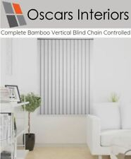 """Complete Ready To Go Bamboo Vertical Blind Chain & Cord Operation 3.5"""" 89mm"""