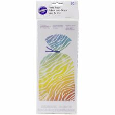 Wilton 20 Pk Bright Zebra Print Party Sweets Gifts Cake Treats Favors Bags Craft