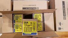 """Square D Qo120 New Plug-In Circuit Breaker 20A 1 Pole 120 Vac 3/4"""" (Box Of 10)"""