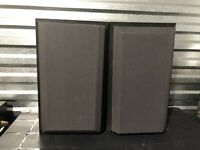 PAIR OF VINTAGE B&W BOWERS AND WILKINS 200 SERIES V201 SPEAKERS