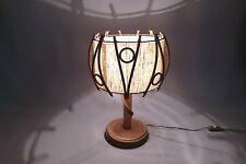 Lampe en rotin vintage en très bel état Lamp in rattan.