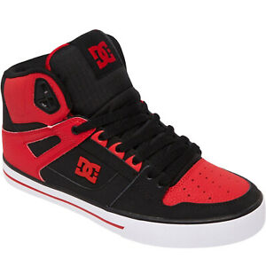 DC Shoes Mens Pure High Leather High Top Skater Trainers Sneakers - Fiery Red