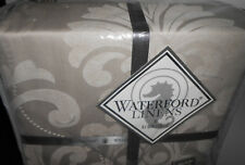 NEW WATERFORD Silver Gray Platinum COLLEEN KING DUVET Cover $565 Retail 110 x 96