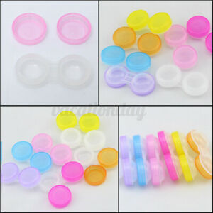 4/10X Contact Lens Storage Soaking Cases - L+R Marked Storage Container Trave
