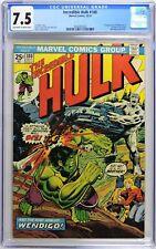S589. INCREDIBLE HULK #180 Marvel CGC 7.5 VF- (1974) 1st CAMEO App. of WOLVERINE