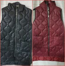 Womens  Ladies Sleeveless Down  Vest Hooded Jacket Gilet Warm Outwear New