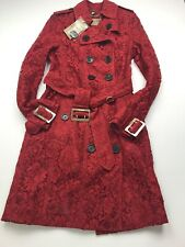 Burberry Sandringham Lace Trench coat Parade Red size US 4, IT 38 New $3095