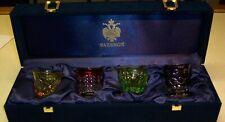 Faberge Na Zdorovye Vodka Shot Glasses, Crystal, Signed With Faberge Box