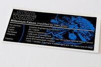 Lego Star Wars UCS Sticker for Millennium Falcon (4504 / 7965 / 75105 / 10179)