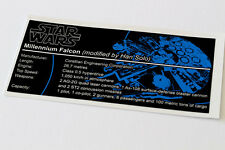 Lego Star Wars UCS Sticker for Millennium Falcon (4504 / 7965 / 75105 / 10179)
