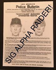 Los Angeles Police Department Wanted Poster Nightstalker Richard Ramirez