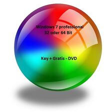 Windows 7 professional  SP1 32- oder 64-Bit OEM  Produkt-Key + Geschenk-DVD,pro
