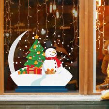Snowman Christmas Tree Snow Globe Window Self Cling / Home / Shop