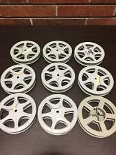 "2, VINTAGE 16MM 300 FT. 5"" X 3/4 INCH Plastic MOVIE FILM REEL"