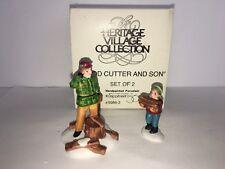"Dept 56 Heritage Village ""Wood Cutter and Son"" Set Of 2 #5986-2"