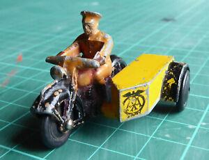 DINKY TOYS No. 270  AA MOTORCYCLE PATROL - black tyres version