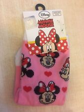 BNWT New Disney Minnie Mouse Pink White Hearts Socks Child's Size 9-12 Eur 27-30
