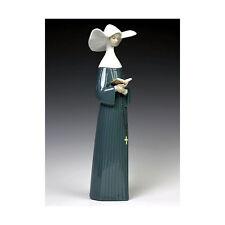 LLADRO PRAYERFUL MOMENT BLUE #5500 BRAND NEW IN BOX NUN RELIGION LARGE SAVE$ F/S