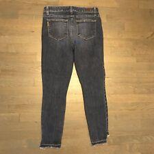 Paige Premium Denim Verdugo Ankle Skinny Stretch Jeans Raw Hem Woman��s Size 31