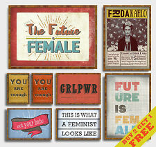 FEMINIST POSTERS * Motivational Inspirational Wall Quotes A3 / A4 size Art Print