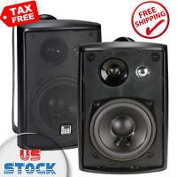3-Way High Performance Outdoor Indoor Speakers Powerful Bass Weather Resistance