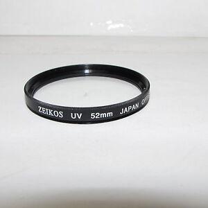 Zeikos UV  52mm Lens Filter Made in Japan (scratched)