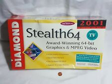NEW (w/ Box wear) Diamond Stealth 64 2001 PCI PC Computer Video Card 1MB 2121TV