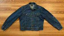 Vintage 60's 70's Lee 101-J Sanforized Blue Denim Jacket Size 42R Union Made