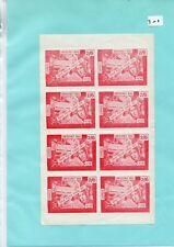 Gb Strike Mail - Sm701 - Azim - Emergency Mail 2/6d value - sheet of 8 - mint