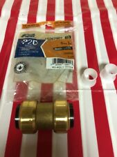 Blue Hawk 1 Inch Coupling  Brass Push To Fit