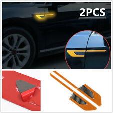 Auto Car Side Body Vinyl Graphic Decal Carbon Fibre Sport Reflective Sticker L+R