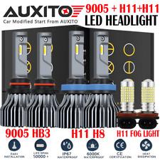 6X H11 9005 H11 LED Headlight Conversion Kit High Low Beam Fog Light 6000K B1 EA
