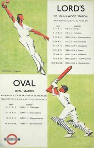 A3 A4 Size - Lords Oval 1934 Cricket Vintage Art Poster