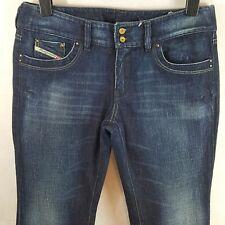 DIESEL RONHAR Womens Bootcut Jeans Blue W34 L32 Cotton Denim Stretch Wash 008FC