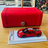 BBR 1:43 Scale 2018 Ferrari 488 Pista Car Model Limited Gloss F1 2007B Red