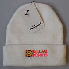 Actual Fact Dilla's Donuts Beanie Winter J Dilla Roll Up White Wooly Hat