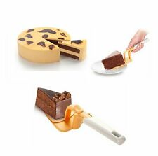Cake Pie SERVER Easy PUSH, No MESSY Fingers Pizza Shovel Tool Spatula, UK SELLER