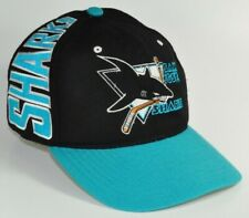 SAN JOSE SHARKS BALL CAP AMERICAN NEEDLE NHL VINTAGE WOOL HAT LARGE
