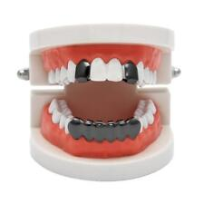 Silver Gold Plated Hollow Teeth Grillz Top & Bottom Grill Set Halloween BA