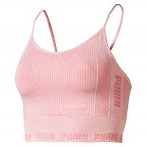 Puma Evoknit Seamless Womens Ladies Sports Fitness Sleeveless Crop Top Pink New