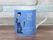 70 today and still quite a catch 70th birthday mug fishing